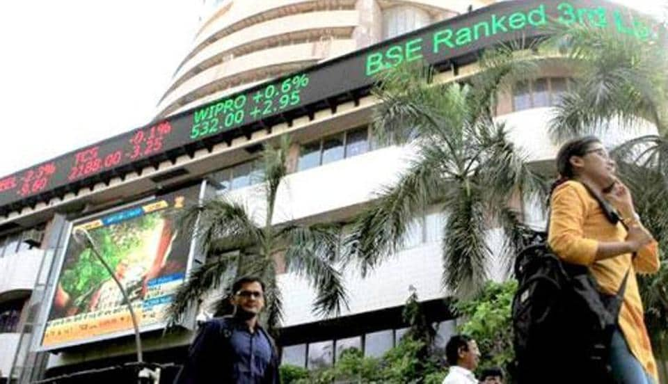 The BSE Sensex breached the 29,000 mark in intra-day trade.