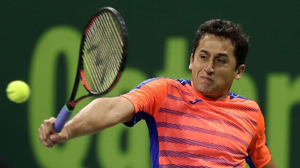 Spain's Nicolas Almagro retired with a calf injury just 23 minutes into his Australian Open first round match against France's Jeremy Chardy.