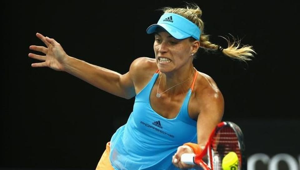 Germany's Angelique Kerber won 6-2, 5-7, 6-2  against Lesia Tsurenko to qualify into the second round of the Australian Open on Monday.