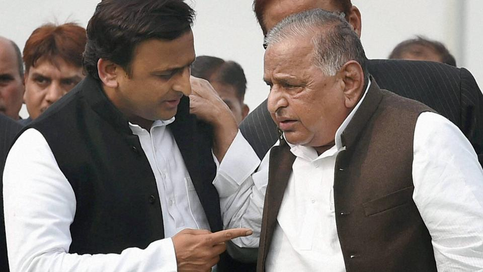 File photo of SP supremo Mulayam Singh Yadav and UP CM Akhilesh Yadav.