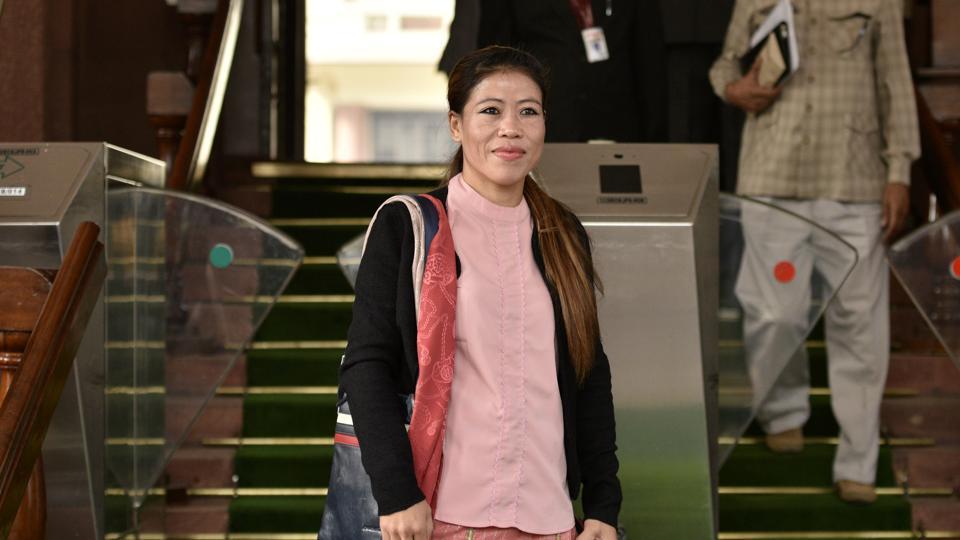 Rajya Sabha MP M C Mary Kom.