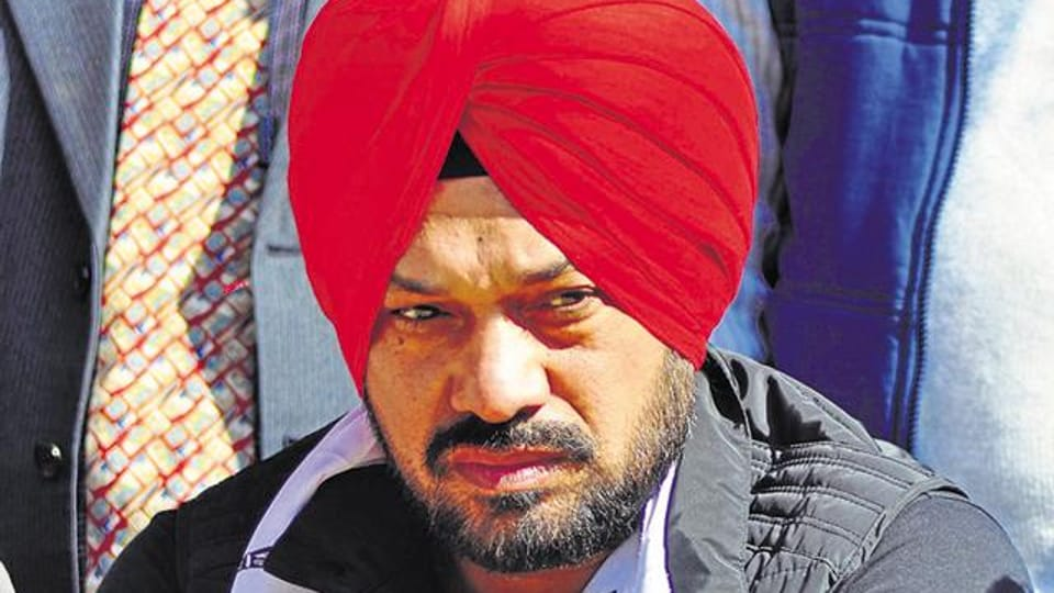 Aam Aadmi Party (AAP) state convener and candidate from Batala Gurpreet Singh Waraich (popularly known as Ghuggi) .