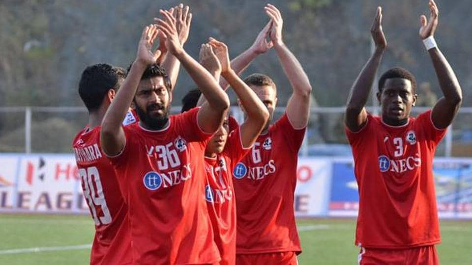 Aizawl FC won their second consecutive home match, beating Shillong Lajong FC2-1  in Aizwal on Tuesday to go top in the I-League table.