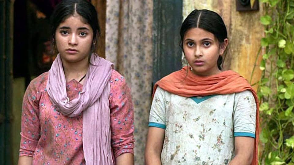Zaira Wasim (Left) played young Geeta Phogat in Dangal.