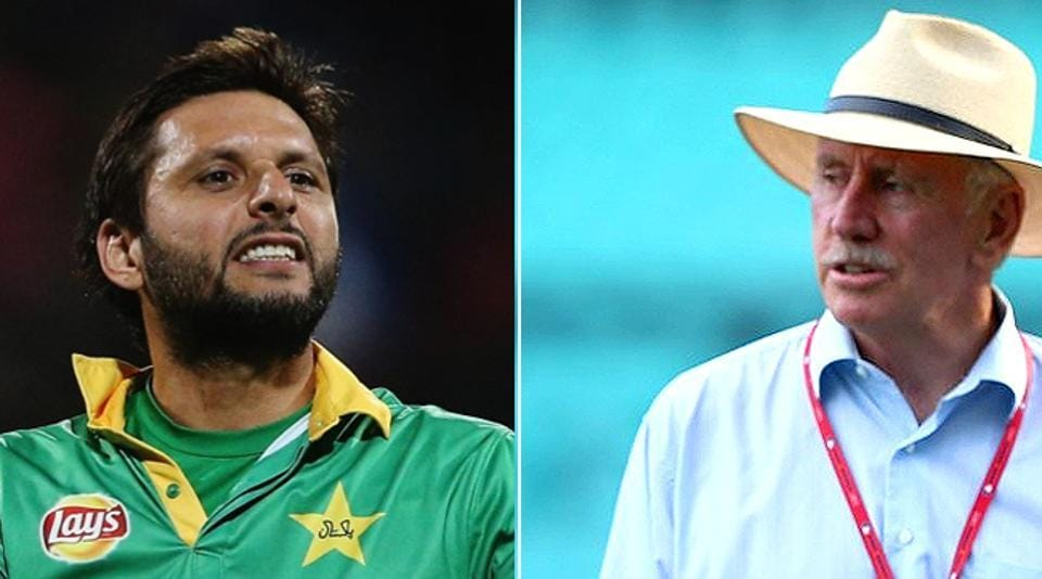 Shahid Afridi and Ian Chappell are locked in a verbal battle after Pakistan beat Australia in the 2nd ODI in Melbourne.