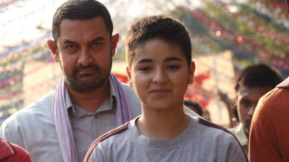 Aamir Khan played Zaira's father Mahavir Singh Phogat in Dangal.