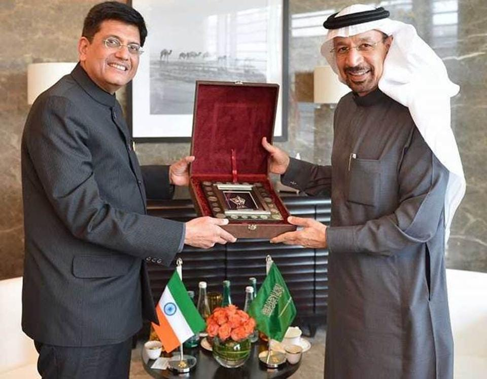Indian flag upside down,Piyush Goyal,Abu Dhabi