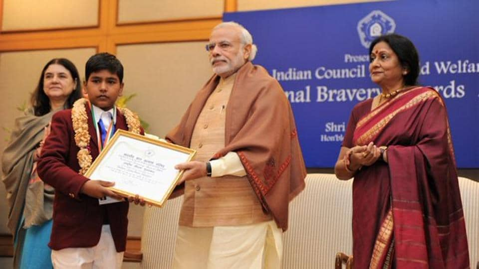 Twenty five children from different parts of the country have been selected for Indian Council for Child Welfare's (ICCW) National Bravery Awards to be presented by Prime Minister Narendra Modi on January 23.