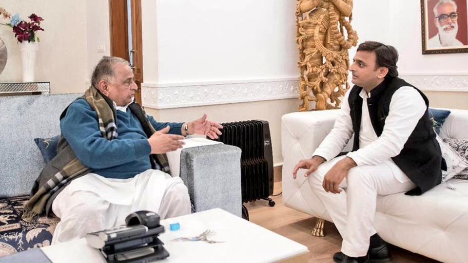 Mulayam Singh Yadav,Akhilesh Yadav,Yadav family feud