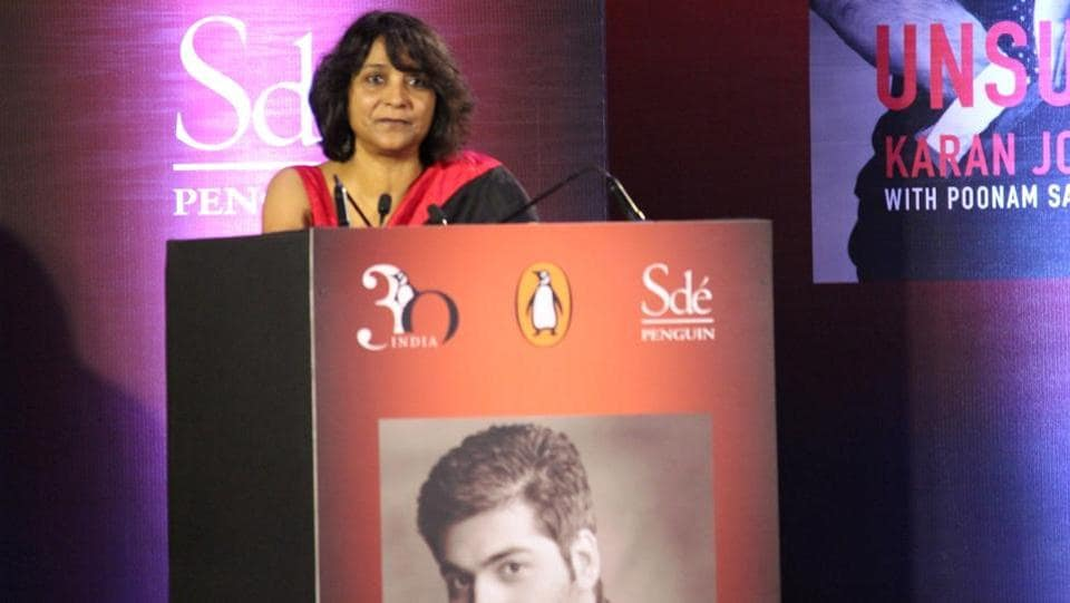 Poonam Saxena, co-author of the book, talks about her experiences during the launch event. (IANS)