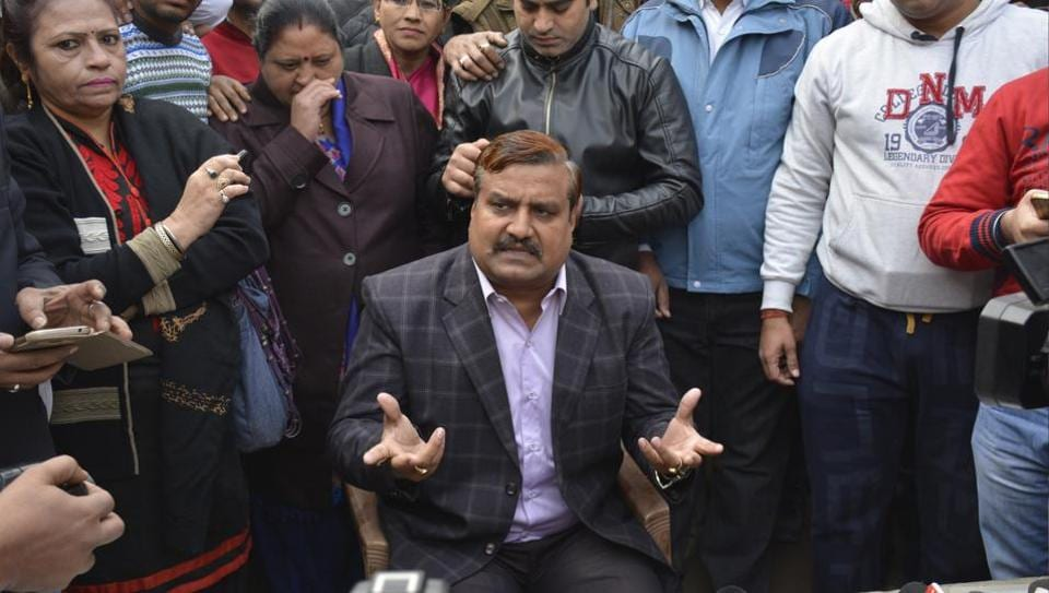 Ex-BSP member Amarpal Sharma addressed the media after joining Congress.