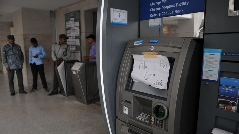 People who rushed to ATMs in sectors 22, 23, 14, 31 and 40 said there was cash only at a few locations.