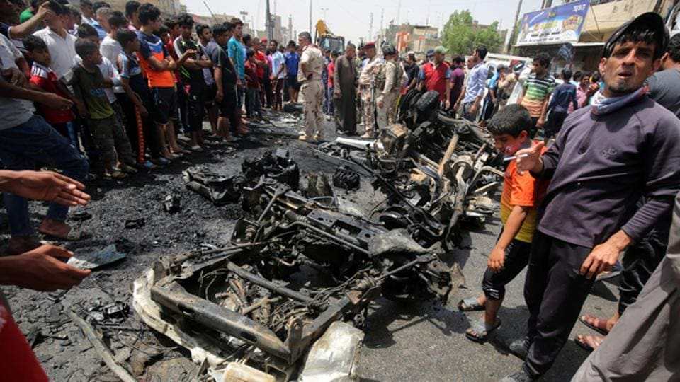IA car bomb blast in southern Baghdad killed at least seven people and wounded 20 on Tuesday