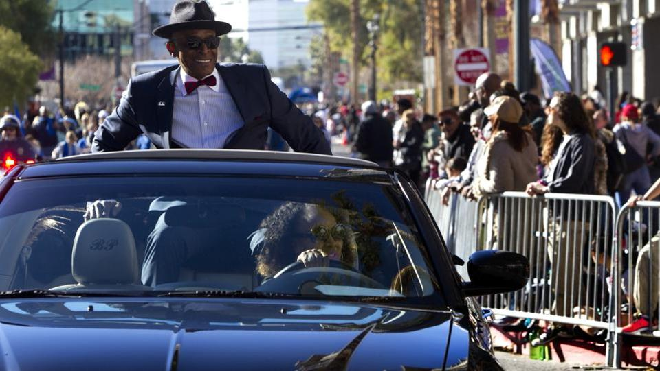 Actor and parade ambassador Antonio Fargas, who played Huggy Bear in the