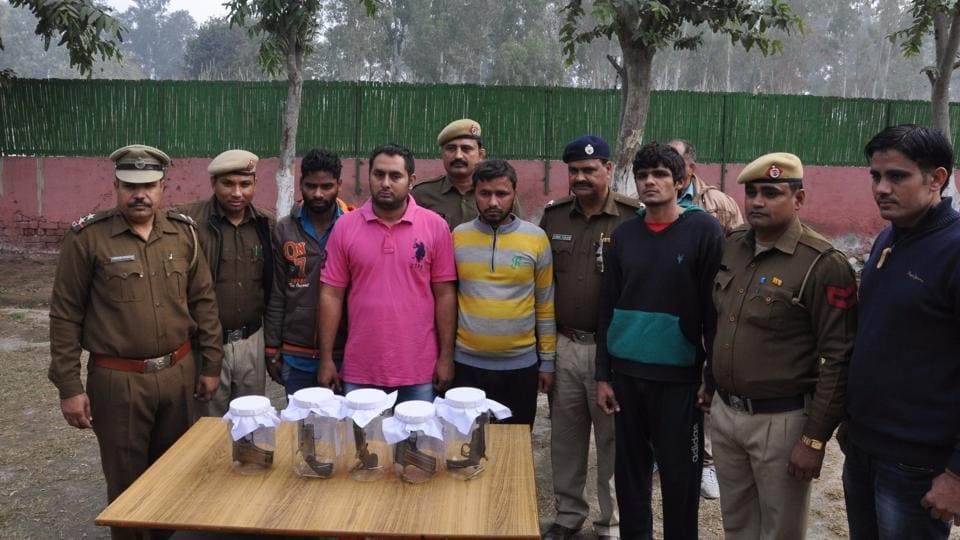 A Crime Branch team arrested four members of Sandeep Gadoli gang in Rohtak on Tuesday.