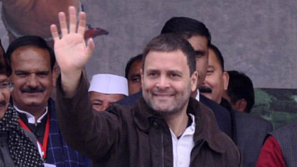 Congress vice-president Rahul Gandhi recently linked the party symbol with the blessing hand of many religious figures.