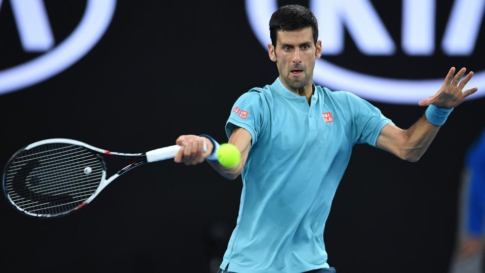Novak Djokovic beat Fernando Verdasco 6-1, 7-6(4), 6-2 in the first round to set up a clash against Ivan Dodig or Denis Istomin at the Australian Open.