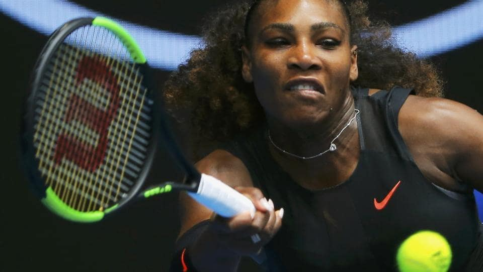 Serena Williams of the US beat Belinda Bencic 6-4. 6-3 in her first-round match while Rafael Nadal beat German's Florian Mayer in straight sets at the Australian Open on Tuesday.