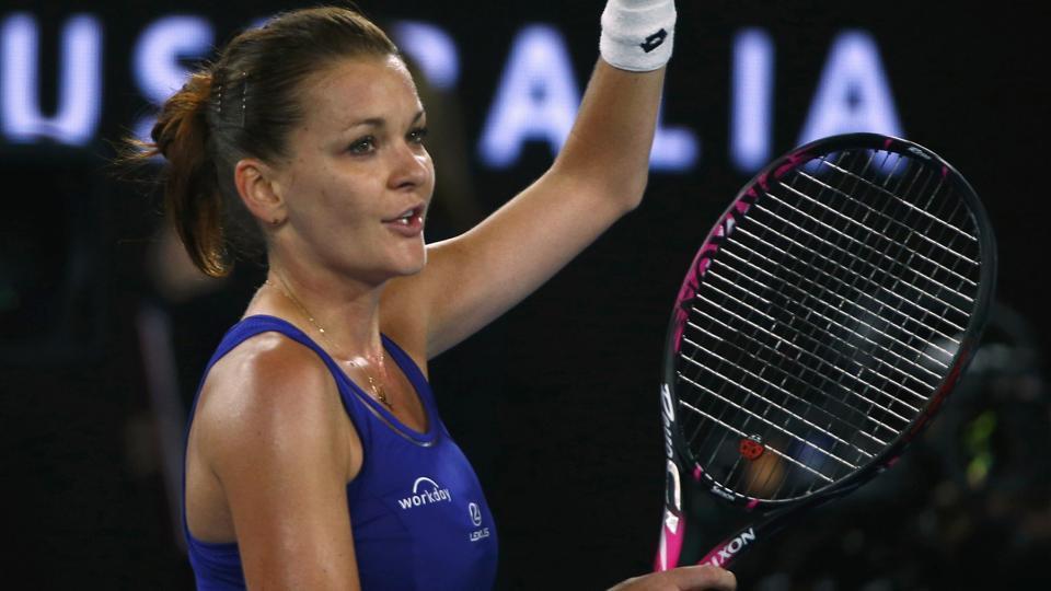 Agnieszka Radwanska defeated Bulgarian Tsvetana Pironkova to move into the Australian Open second round on Tuesday as she bids to end her long wait for a maiden Grand Slam title.
