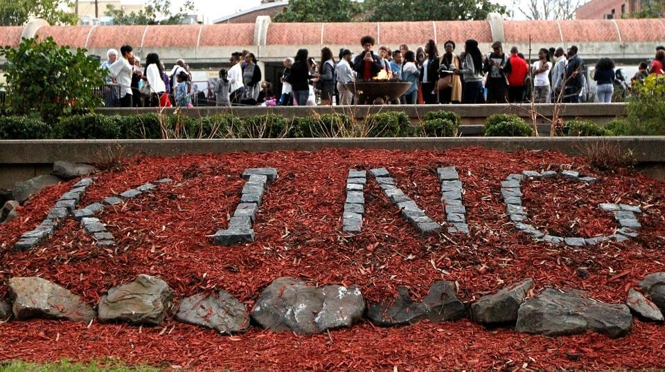Visitors tour the grounds around The King Center on the Martin Luther King, Jr. holiday in Atlanta, Georgia. (Tami Chappell/REUTERS)