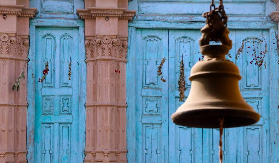 Photographs of bells, clicked by Ritu Jhingon.