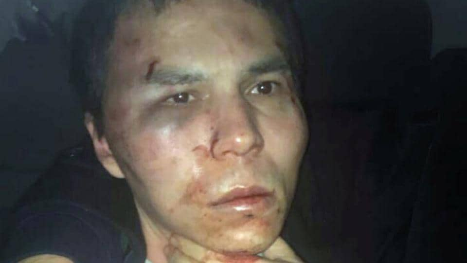 The alleged attacker of Reina nightclub, who is identified as Abdulgadir Masharipov, is seen after he was caught by Turkish police in Istanbul, in this photo provided by Dogan News Agency.