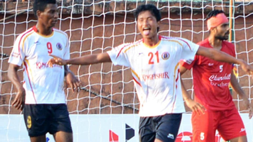 East Bengal FC defeated Churchil Brothers FC2-0 in their I-League encounter, thanks to goals from Thongkhosiem Haokip and Lalrindika Ralte.