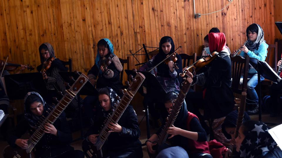 Afghanistan's first female orchestra group is set to be catapulted onto the world stage with a performance at the World Economic Forum in Davos.