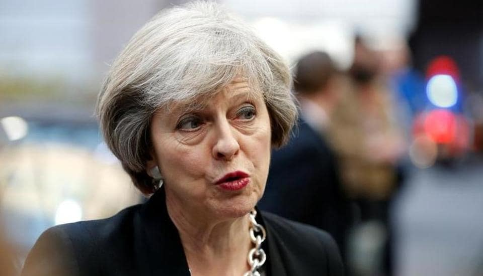 A file photo of Britain's Prime Minister Theresa May.  May evidently considers controlling immigration with the EU a more worthy objective (and the real message of the Brexit vote) than remaining in the market.