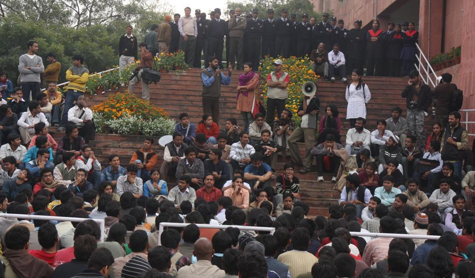 "The JNU lecture series was planned after at least five teachers received notices asking them to ""follow rules"" and not address students at administration building."