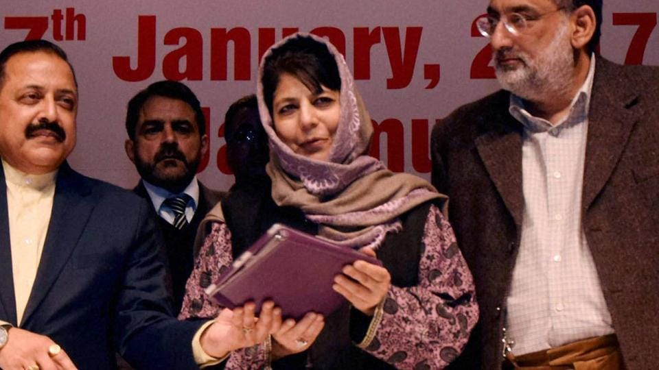 J-K chief minister Mehbooba Mufti on Wednesday told the assembly that 'no ex-gratia/compensation has been paid to the next of kin of Khalid Muzaffar Wani and Burhan Wani.'.