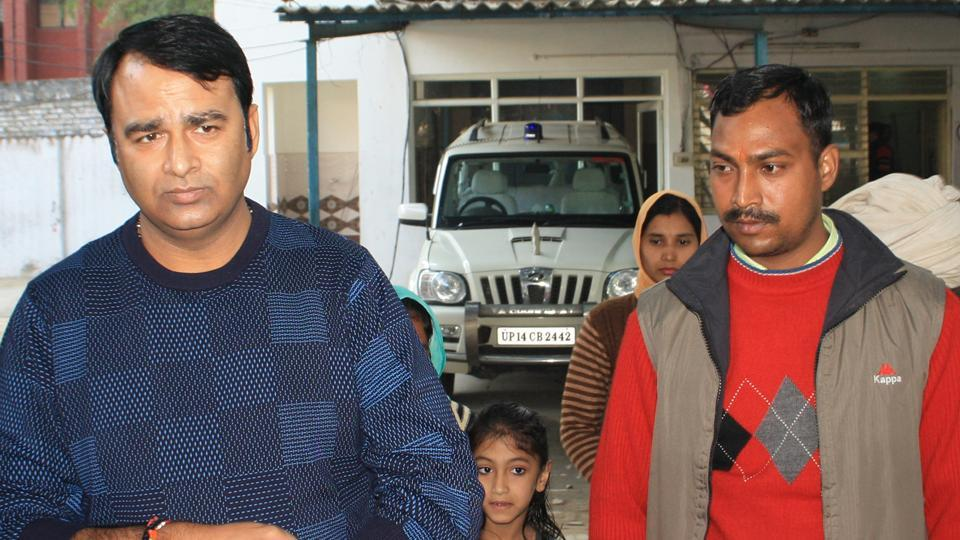 BJP leader Sangeet Som (left)  has been booked  after his supporters screened a documentary glorifying him, thereby allegedly polarising voters ahead of UPassembly elections.