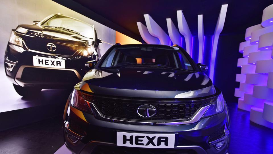 Tata Motors has launched its much awaited crossover, the Hexa, in New Delhi. (Sanjeev Verma/HT PHOTO)