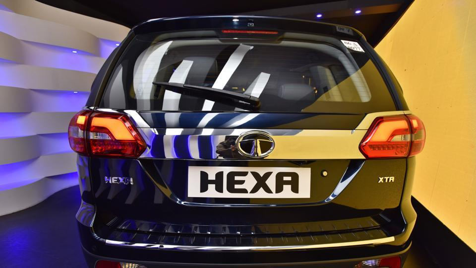 Based on Tata Motors' 'Impact Design' philosophy which uses elements created across Tata Motors Design studios in Britain, Italy and India, the Hexa is the second model from this platform after the highly successful compact car Tiago launched last April. (Sanjeev Verma/HT PHOTO)