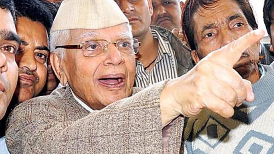 Former Uttarakhand and UP chief minister NDTiwari joins the BJP.