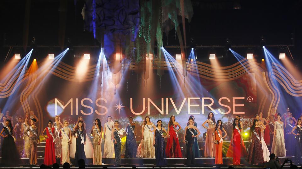 Miss Universe 2017 candidates pose during its formal launch in suburban Pasay city south of Manila, Philippines on Monday. (AP)