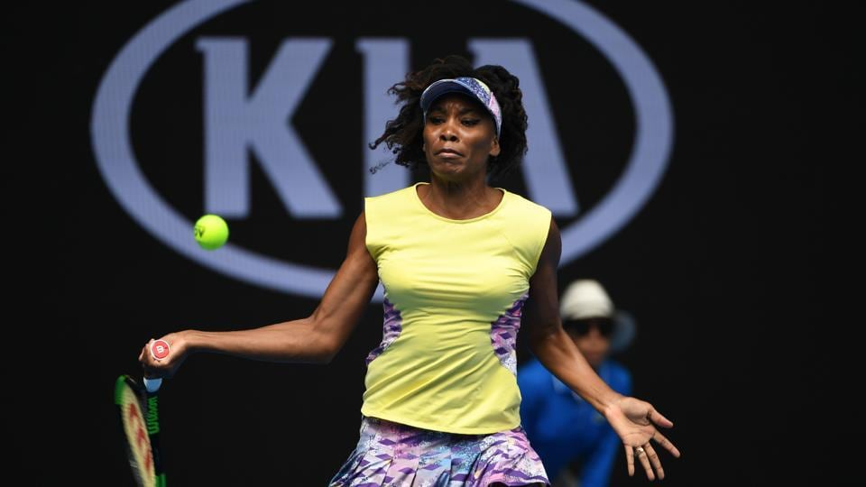 Venus Williams secured a 6-3, 6-2 victory over Swiss qualifier Stefanie Voegele in the second round. (AFP)