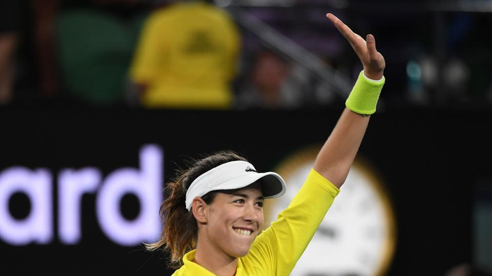 Garbine Muguruza proved too strong for American tennis player Samantha Crawford as the seventh seed won 7-5, 6-4 (AFP)