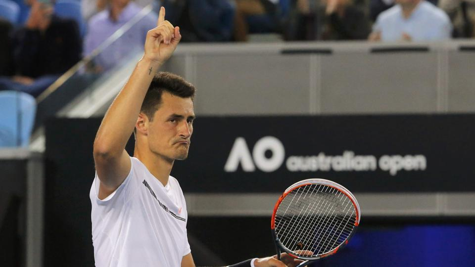 Australia's hopes rested on Bernard Tomic as he overcame Victor Estrella Burgos of the Dominican Republic in a hard-fought encounter 7-5 7-6 (7-4) 4-6 7-6 (7-5) (REUTERS)