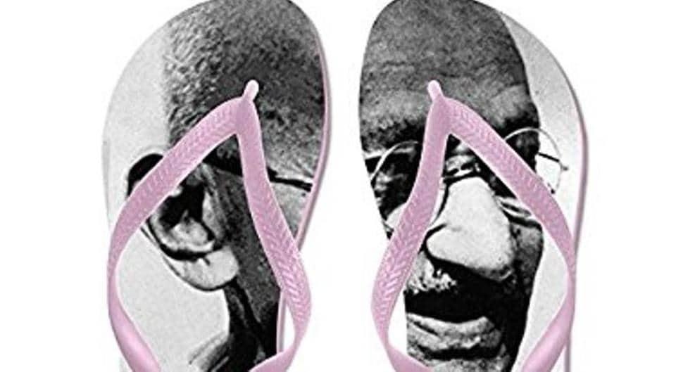 Amazon was selling flip-flops with Mahatma Gandhi's image.