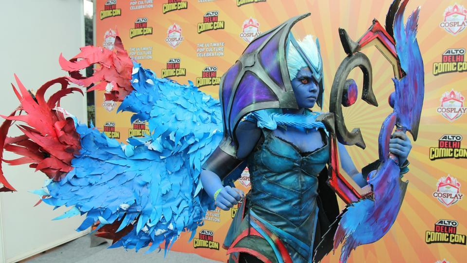Seen here is Delhi finalist Sana Khan's cosplay of Vengeful Spirit from DOTA (Defense of the Ancients).