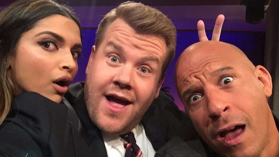 Deepika Padukone,James Corden,Vin Diesel