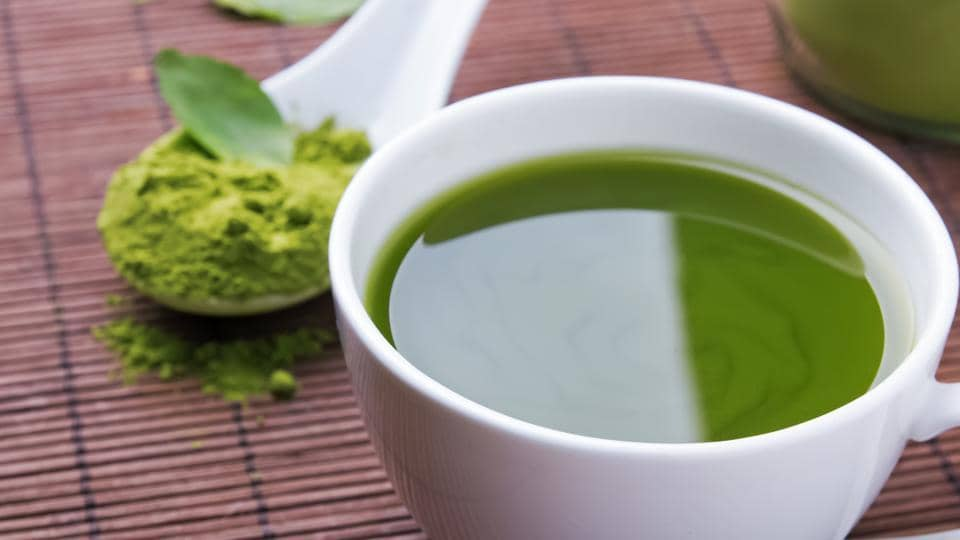 A cup of matcha tea