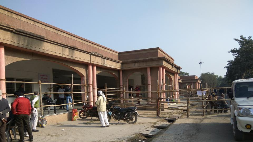 Vikas Bhavan, near the Greater Noida collectorate (in picture), has received 350 applications for exemption from election duty.