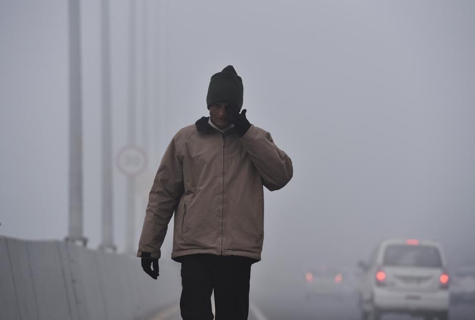 Dense fog at T3 IGI Airport, in New Delhi on Wednesday.