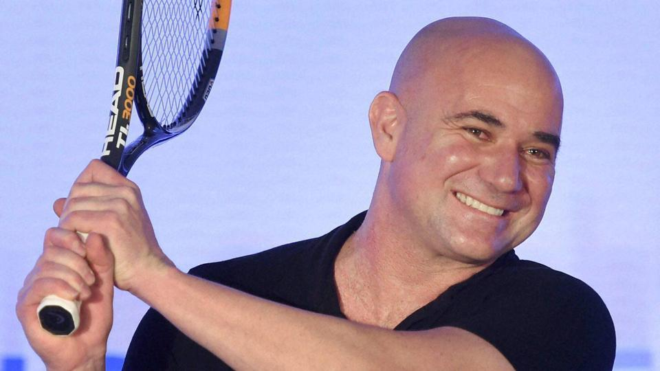 Tennis legend Andre Agassi during the unveiling of India Value Fund Advisors new brand identity ' True North', in Mumbai on Wednesday. Agassi paid rich tribute to Roger Federer