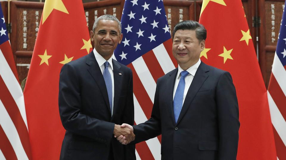 In this Sept 3, 2016, file photo, US President Barack Obama shakes hands with Chinese President Xi Jinping before a bilateral meeting at Westlake State House in Hangzhou in China. Beijing on Thursday noted that