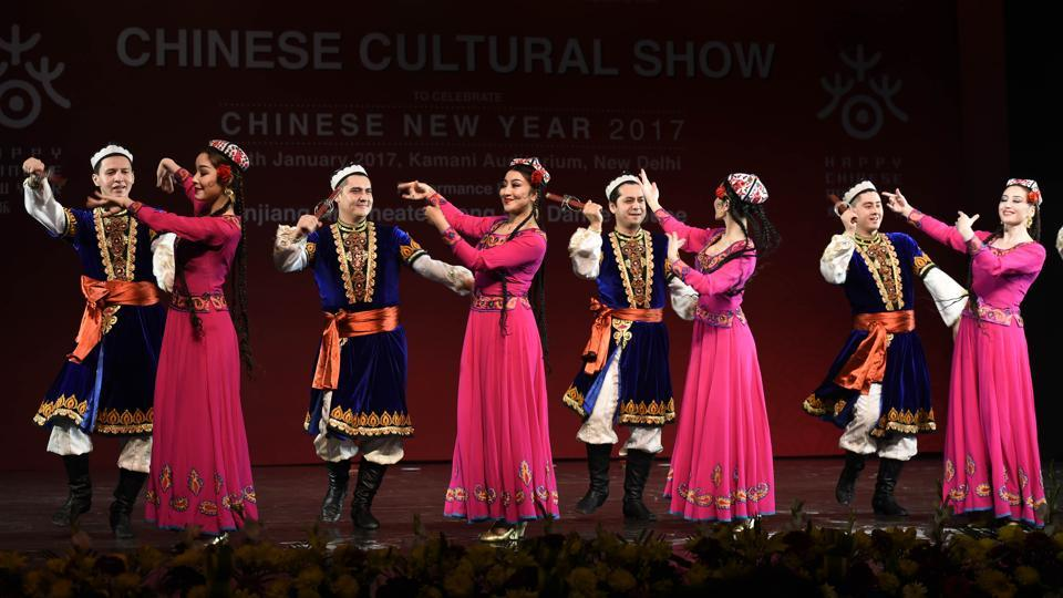 The aim of this cultural evening is to represent a slice of Chinese culture to the friends in India, and to strengthen bilateral cultural cooperation between the two nations.  (Arvind Yadav/HT PHOTO)
