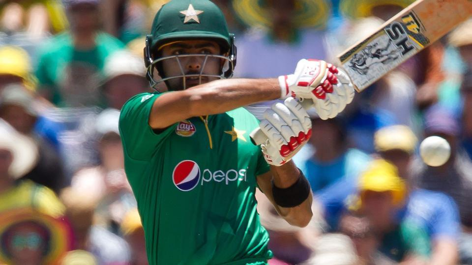 Babar Azam bats during the third one-day international  cricket match between Pakistan and Australia in Perth on Thursday. Babar Azam has joined a unique club that includes Viv Richards and Kevin Pietersen