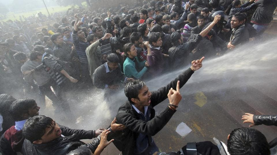 A protest in the aftermath of the December 16 Delhi gang rape. As per police statistics, one woman was raped every four hours in 2016 in Delhi.